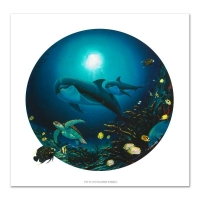 "Wyland Signed ""Undersea Life"" Limited Edition 24x24 Giclee on Canvas at PristineAuction.com"