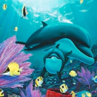 """Wyland Signed """"Sea of Light"""" Limited Edition 36x24 Giclee on Canvas at PristineAuction.com"""