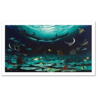 """Wyland """"Loving Sea"""" Signed Limited Edition 42x22 Giclee on Canvas at PristineAuction.com"""