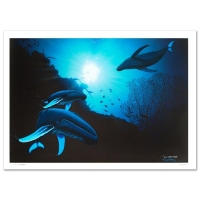 """Wyland Signed """"Whale Vision"""" Limited Edition 42x30 Giclee on Canvas at PristineAuction.com"""