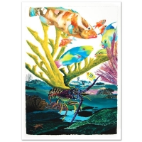 """Wyland Signed """"Coral Reef Life"""" Limited Edition Giclee Diptych on Canvas at PristineAuction.com"""