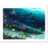 """Wyland Signed """"Radiant Reef"""" Limited Edition 26x35 Giclee Diptych on Canvas at PristineAuction.com"""