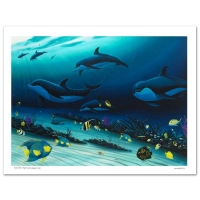 """Wyland Signed """"Radiant Reef"""" Limited Edition 26x36 Giclee Diptych on Canvas at PristineAuction.com"""