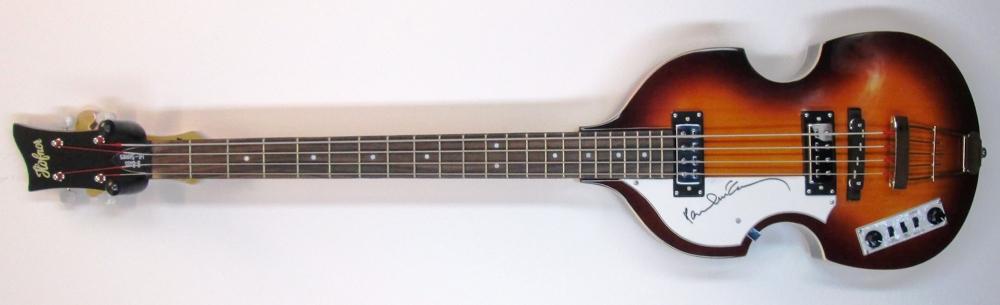 Paul McCartney Signed New Full Size Left Handed Hofner Beatle Electric Bass Guitar