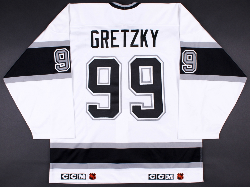 7ae40b5a11a Hover to zoom Wayne Gretzky Signed LE Kings Captain Jersey with Stanley Cup  Centennial Patch 399 ...