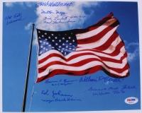 "Multi-Signed ""Pearl Harbor Survivors"" 8x10 Photo Signed by (9) with Laren Bruner, Ed Johann, Herb Weatherwax, Dick Laubert, Dick Schimmel (PSA LOA)"