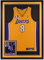 Kobe Bryant Signed Lakers LE 33x45 Custom Framed Jersey (UDA COA)