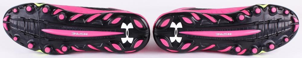 under armour breast cancer. darius kilgo broncos game-used pair of (2) under armour breast cancer awareness