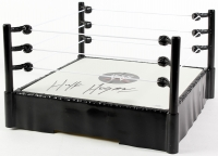 Hulk Hogan Signed WWE RAW Action Figure Wrestling Ring (Schwartz COA)