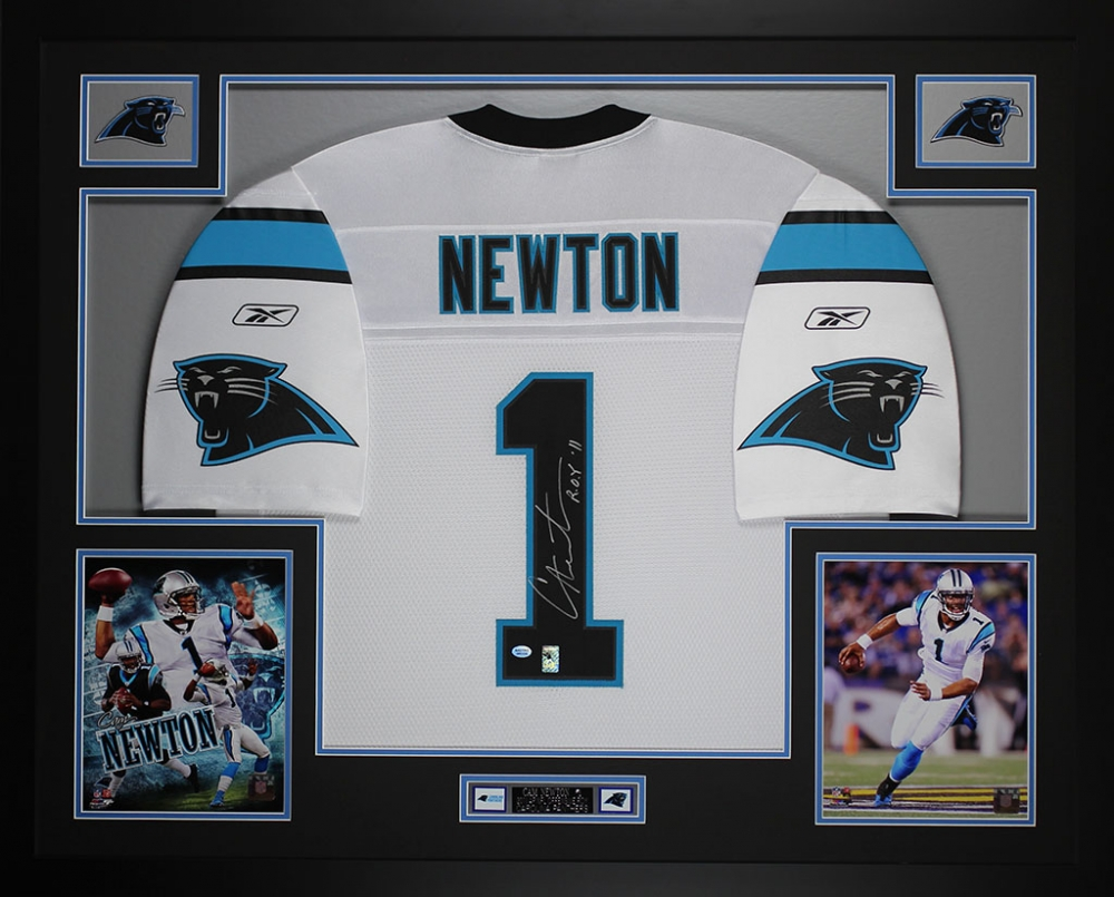ff20feb8e Cam Newton Signed Panthers 35
