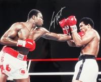 Larry Holmes Signed 16x20 Photo vs. Muhammad Ali (Schwartz COA)