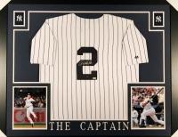 Derek Jeter Signed Yankees 35x43 Custom Framed Jersey (Steiner COA & MLB Hologram)