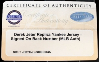 Derek Jeter Signed Yankees 35x43 Custom Framed Jersey (Steiner COA & MLB Hologram) at PristineAuction.com