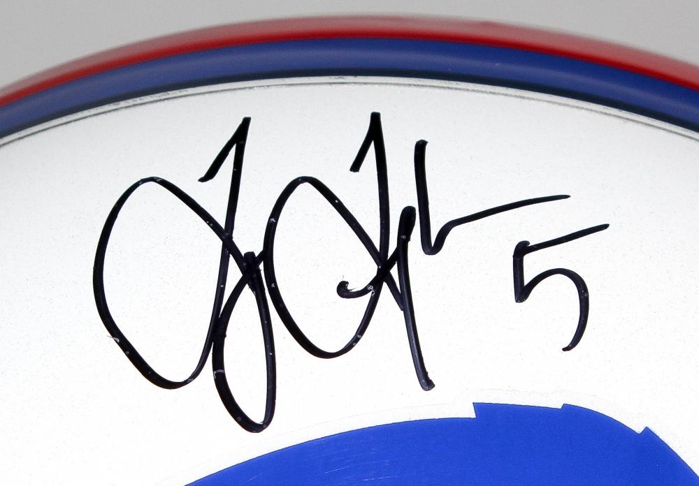 c59df2b43e9 Tyrod Taylor Signed Bills Full-Size Helmet (Schwartz COA) at  PristineAuction.com