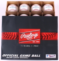 Lot of (12) New Rawlings Official Major League Baseballs with Commissioner Robert Manfred Jr.