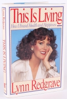 """Lynn Redgrave Signed """"This Is Living"""" Hardback Book With Inscriptions  (PSA COA)"""