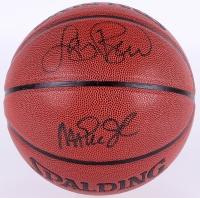Larry Bird & Magic Johnson Signed Basketball (PSA COA & Bird Hologram)