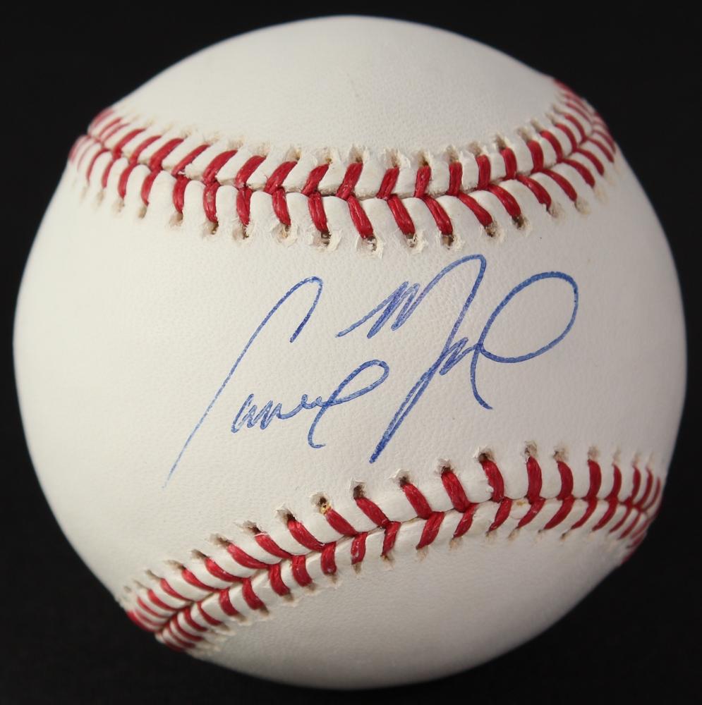 b142d6230b2 Cameron Maybin Signed OML Baseball (Locker Room Memorabilia COA   MLB  Hologram) at PristineAuction