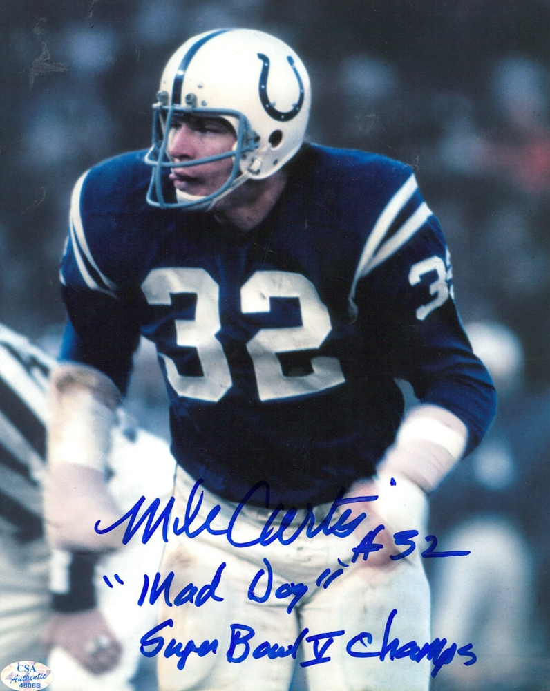"""Mike Curtis Signed Colts 8x10 Photo Inscribed """"Mad Dog"""" & """"Super Bowl V Champs"""" (CSA) at PristineAuction.com"""