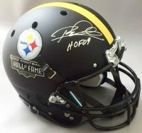 """Rod Woodson Signed Steelers Full-Size Hall of Fame Helmet Inscribed """"HOF 09"""" (JSA COA)"""