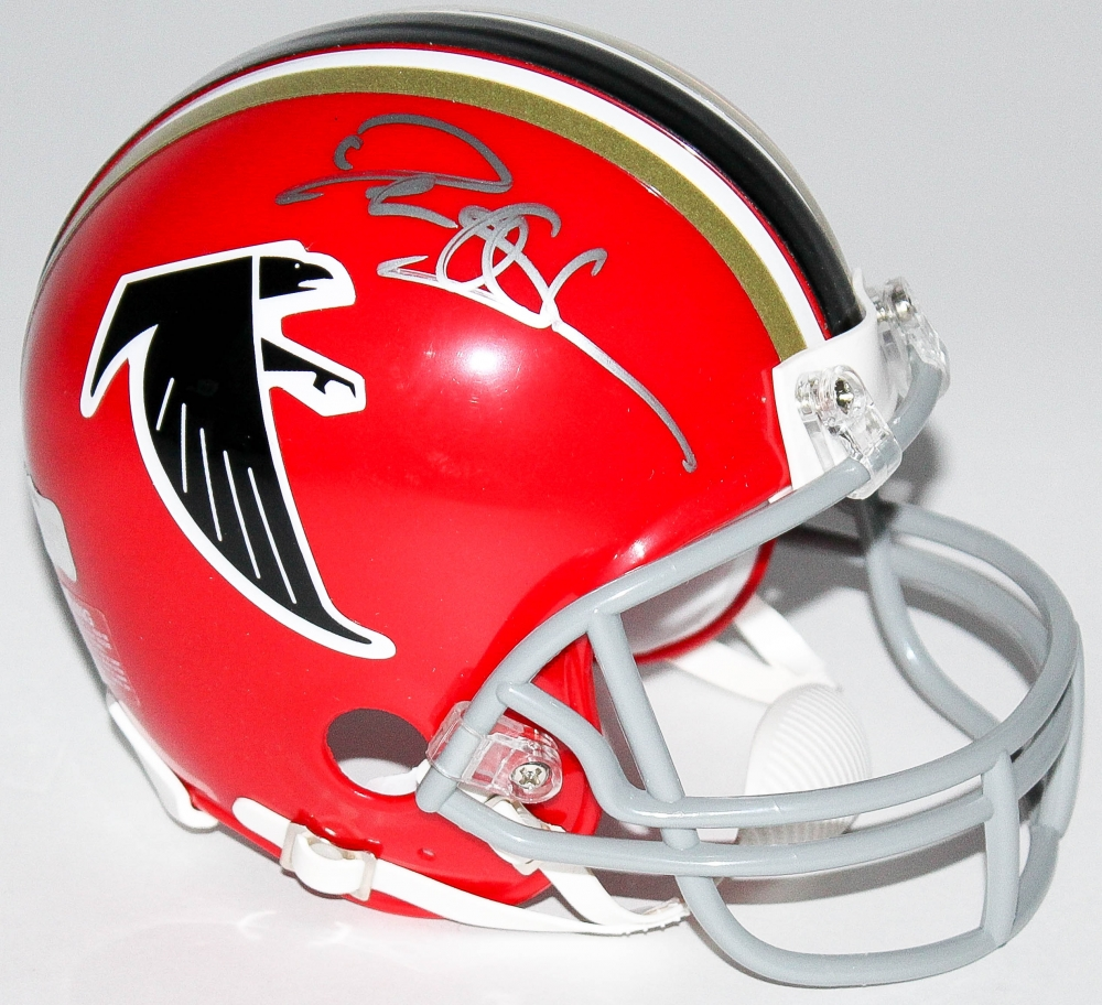 ccc6ad38a ... Deion Sanders Signed Falcons Throwback Mini Helmet (Radtke COA) at  PristineAuction.com ...