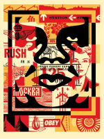 "Shepard Fairey ""Obey"" Andre the Giant Signed 18x24 Lithograph on Cream Speckle Tone Paper"