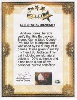 Bo Jackson Signed Game-Used Cooper Pro 100 Baseball Bat (Player LOA) at PristineAuction.com