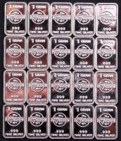 Lot of (20) 1 Gram .999 Silver I Love You Bullion Bars