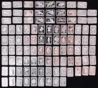 Lot of (100) 1 Gram .999 Silver Bullion Bars