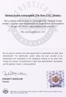 "Michael Jordan Signed North Carolina Tar Heels ""The Show"" 20x46 Custom Framed Display (UDA COA) at PristineAuction.com"