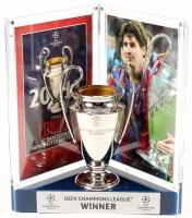 "Lionel ""Leo"" Messi Signed Barcelona UEFA Replica Trophy Display (Messi COA)"