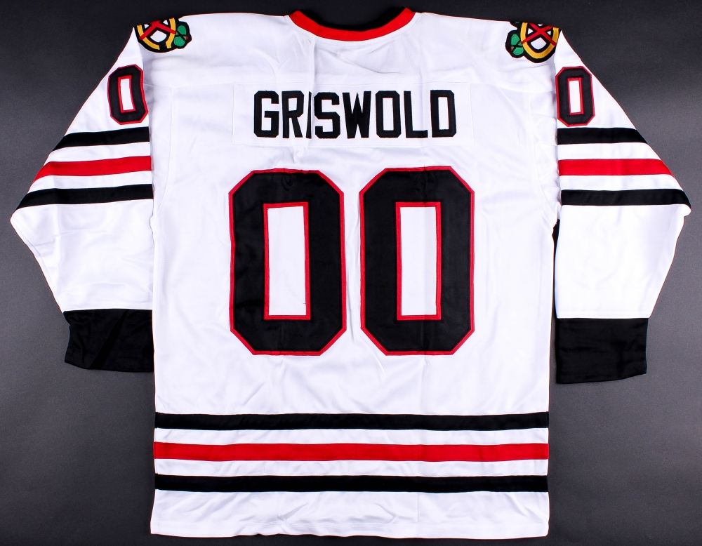 Clark Griswold Blackhawks On-Ice Style Custom Stitched ...