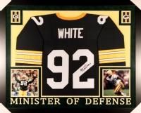 "Reggie White Signed Packers 35x43 Custom Framed Jersey Inscribed ""Minister of Defense"" (JSA LOA)"