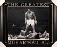 Muhammad Ali Signed 27x33 Custom Framed Photo Display (PSA LOA)