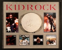 Kid Rock Signed 25x31x2 Custom Framed Tambourine Shadowbox Display (JSA COA)