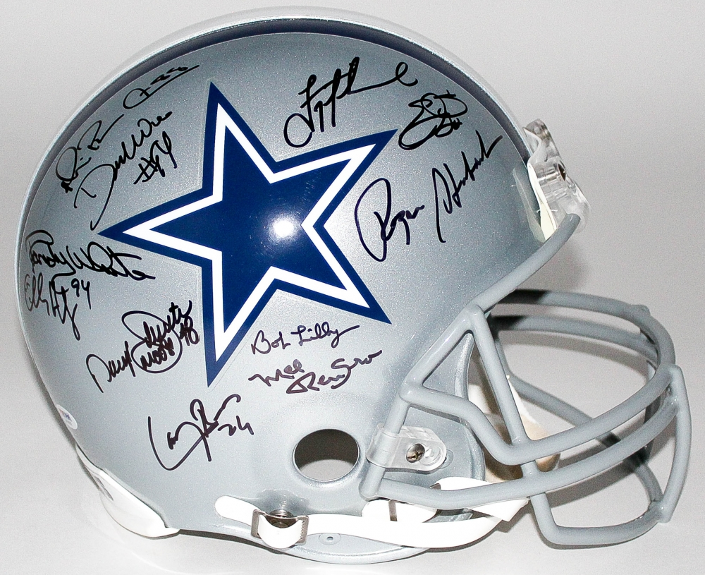 f98afe8c0 Cowboys Legends Full-Size Helmet Signed by (25) with Troy Aikman