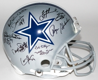 """Cowboys Legends Full-Size Helmet Signed by (25) with Troy Aikman, Emmitt Smith, Roger Staubach, Michael Irvin, Daryl """"Moose"""" Johnston, Ed """"Too Tall"""" Jones (PSA LOA)"""