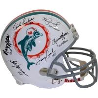 1972 Dolphins Full-Size Helmet Team-Signed by (6) Including Bob Griese, Larry Csonka, Manny Fernandez (Steiner COA)