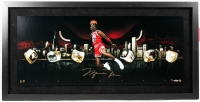 "Michael Jordan Signed LE Bulls ""City of Rings"" 21x42 Custom Framed Photo (UDA COA)"