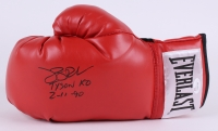 "Buster Douglas Signed Everlast Boxing Glove Inscribed ""Tyson KO 2-11-90"" (JSA COA)"