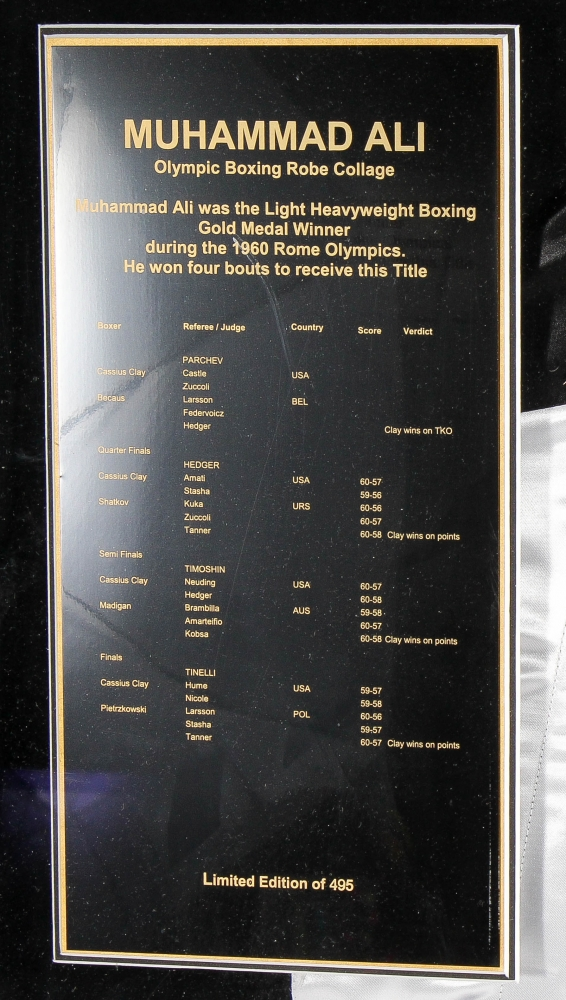 Muhammad Ali Signed LE 1960 Olympics 40x42x4 Custom Framed Boxing Robe  Shadow Box Display with Full 625d32e15