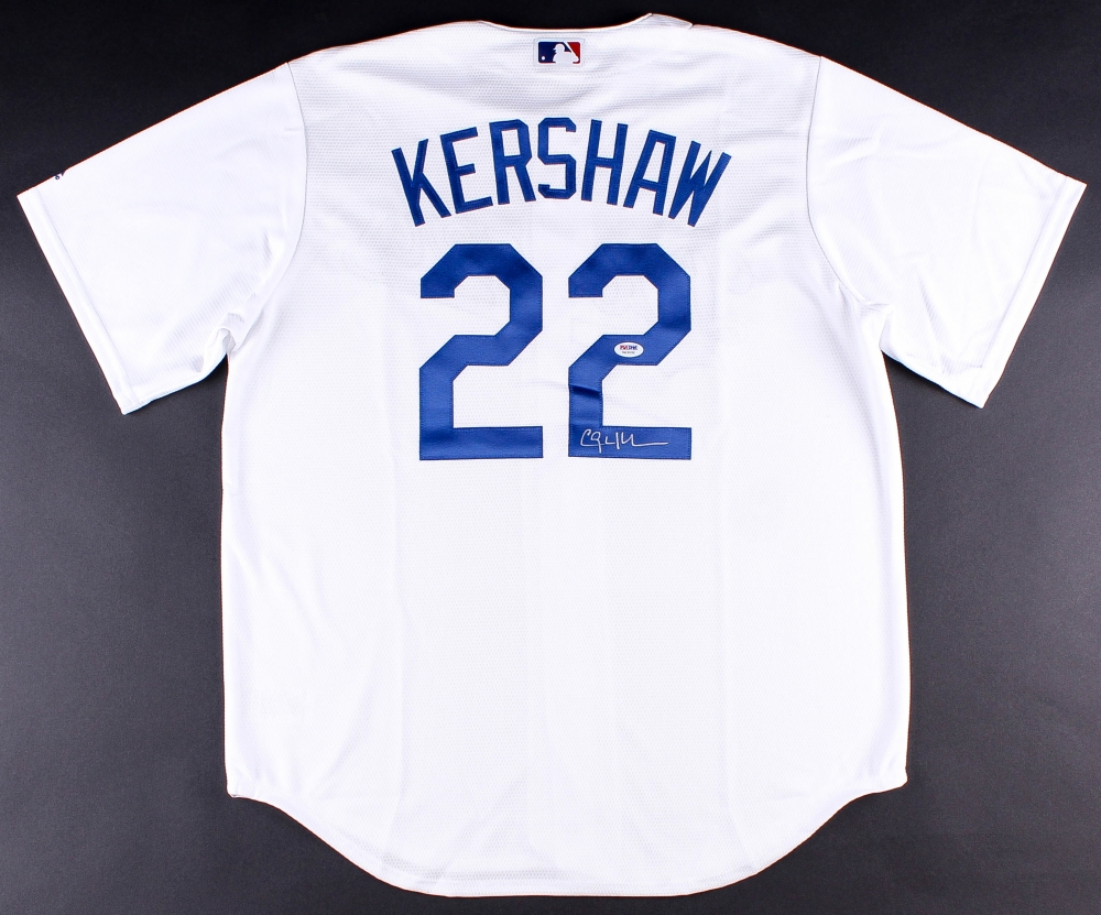 MLB Los Angeles Dodgers 22 Clayton Kershaw Jerseys Gray Clayton Kershaw  Signed Dodgers Majestic Cool Base Jersey (PSA COA) at PristineAuction.com . 8258aa38b