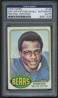 Walter Payton Twice Signed 1976 Topps #148 RC (PSA Encapsulated)