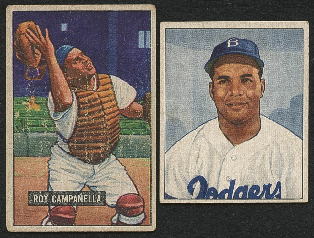 Lot Of 2 Roy Campanella Baseball Cards With 1951 Bowman 31