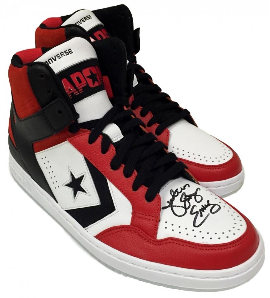 717e135642e3a9 ... Online Sports Memorabilia Auction Pristine Auction Julius Dr J Erving  Signed Converse Weapon Custom Basketball Shoes Source · Men s Converse Pro  Leather ...