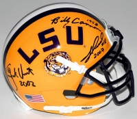 Billy Cannon, Jacob Hester & Justin Vincent Signed LSU Tigers Mini-Helmet With National Championship Year Inscriptions (Radtke COA) at PristineAuction.com