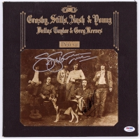 "Stephen Stills, David Crosby & Graham Nash Band Signed ""Deja Vu"" Record Album Cover (PSA LOA)"