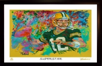 "Aaron Rodgers Packers ""Superstar"" 11x17 Signed Winford Limited Edition Lithograph #/199 (Winford COA)"