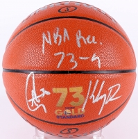 "Stephen Curry & Klay Thompson Signed ""73 Wins"" Official NBA Game Ball Series Basketball Inscribed ""NBA Rec 73-9"" (Fanatics Hologram) at PristineAuction.com"