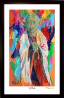 "Yoda ""Star Wars"" 11x17 Signed Winford Lithograph (Winford COA)"